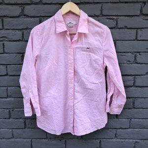 Vineyard Vines Pink Logo Button Down sz 8